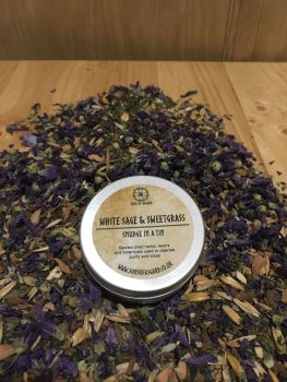 White Sage & Sweetgrass - Smudge in a Tin