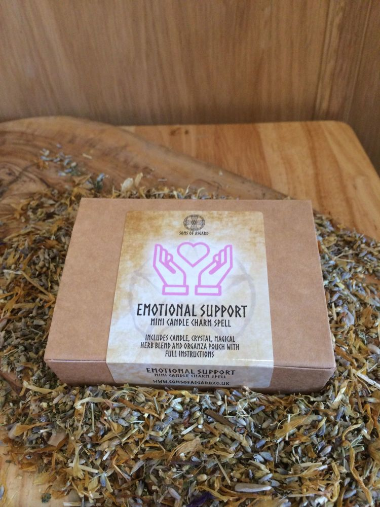 Emotional Support - Mini Candle Charm Spell