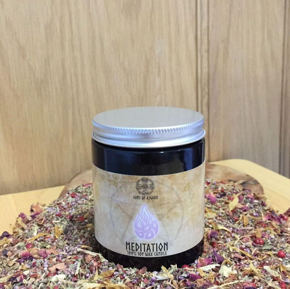 Meditation Candle Jar
