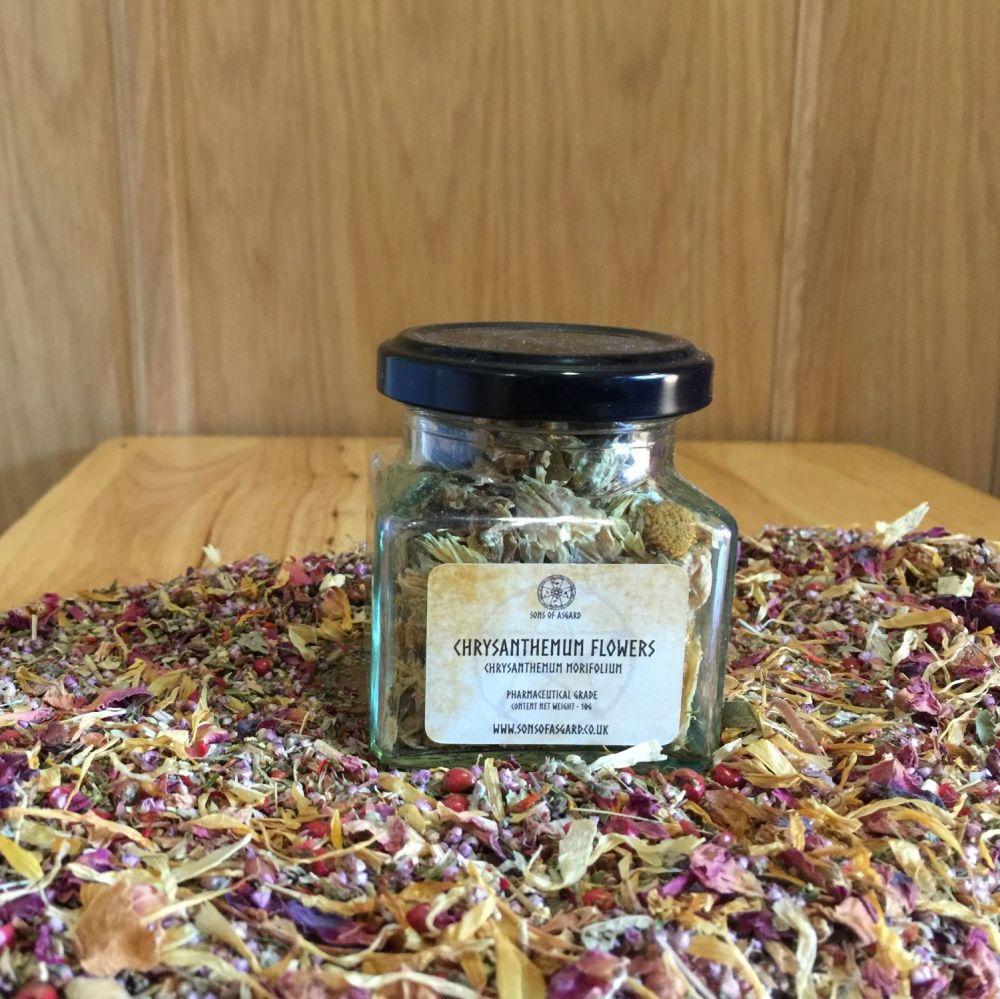 Chrysanthemum Flowers - Apothecary Jar