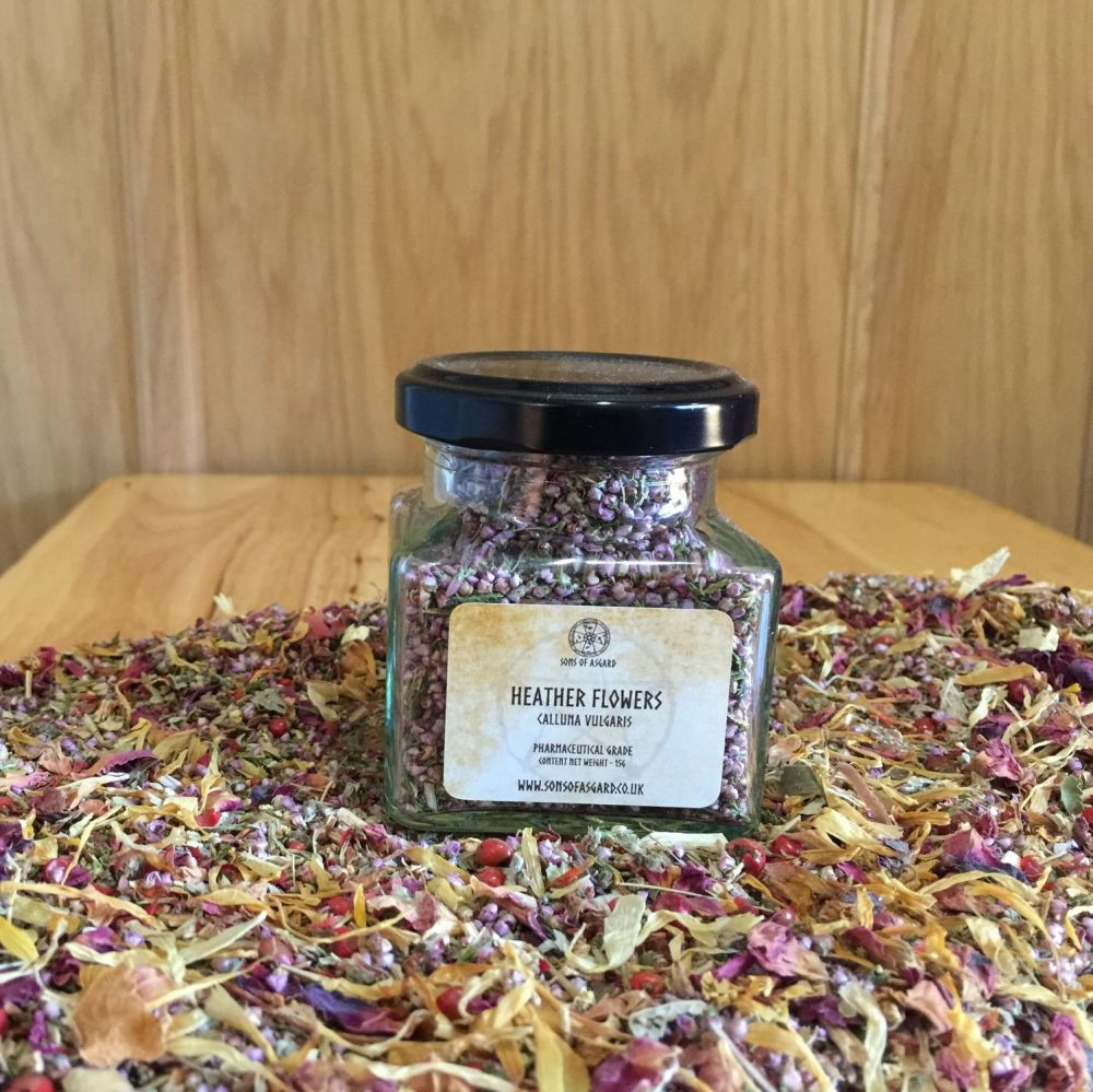 Heather Flowers - Apothecary Jar