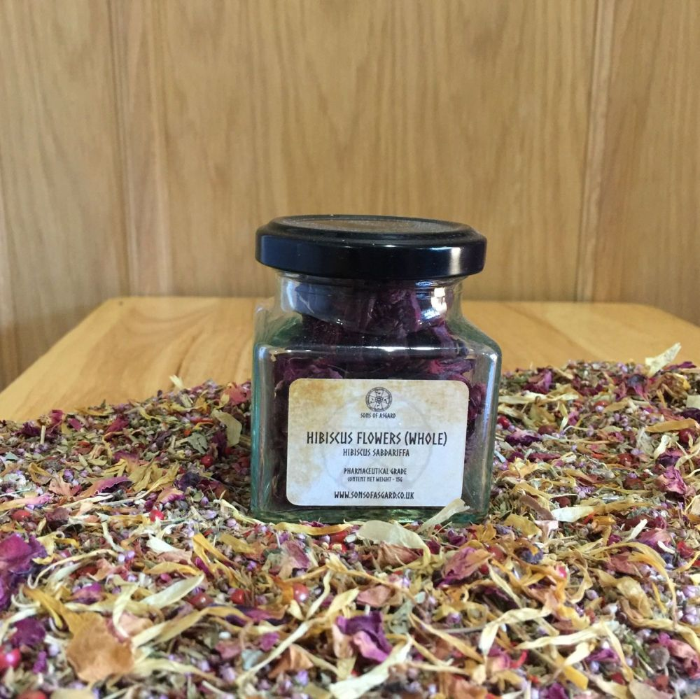 Hibiscus Flowers (Whole) - Apothecary Jar