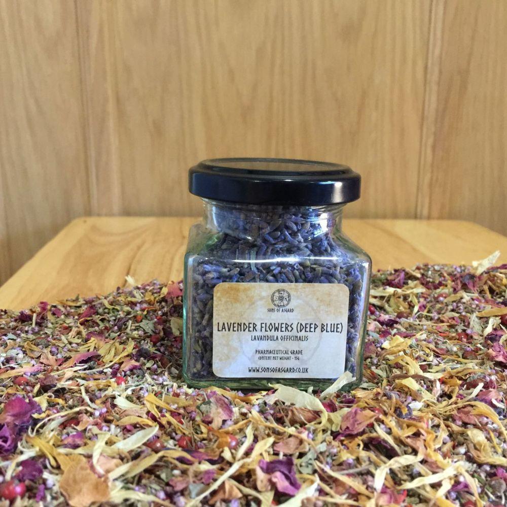 Lavender Flowers (Deep Blue) - Apothecary Jar
