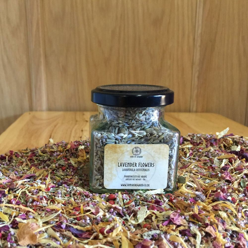 Lavender Flowers - Apothecary Jar