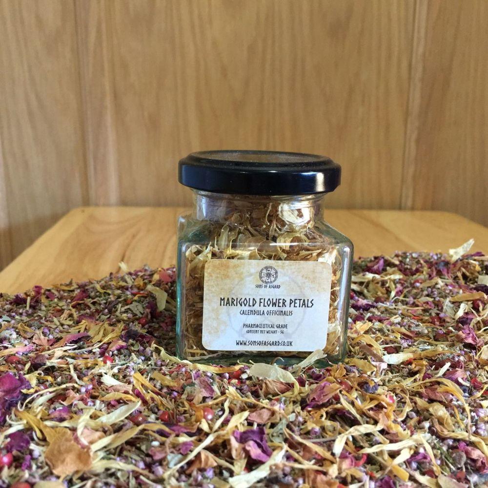 Marigold Flower Petals - Apothecary Jar