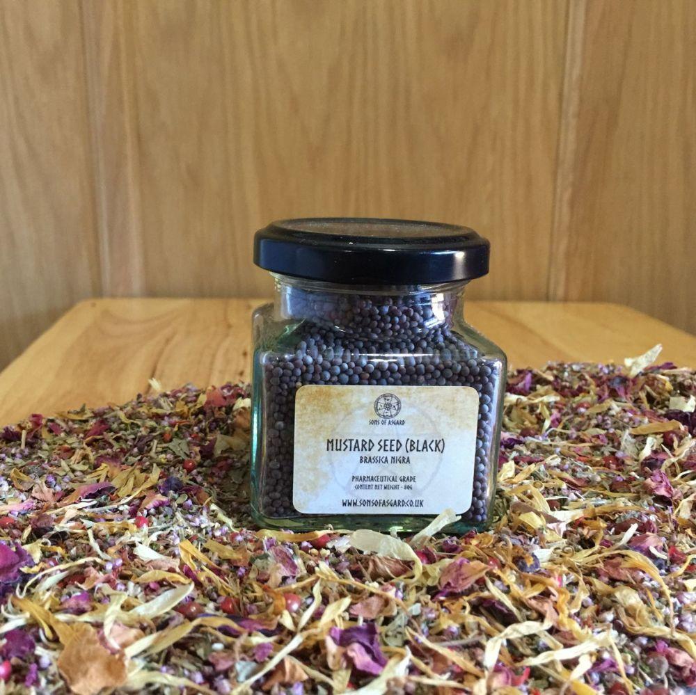 Mustard Seed - Black - Apothecary Jar