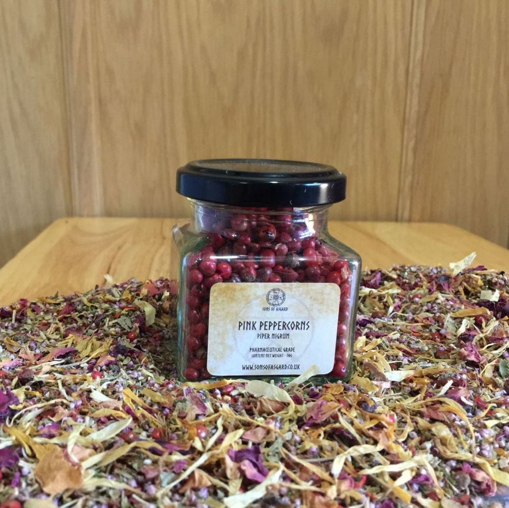 Pink Peppercorns - Apothecary Jar