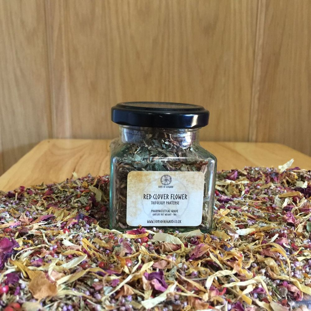 Red Clover Flowers - Apothecary Jar