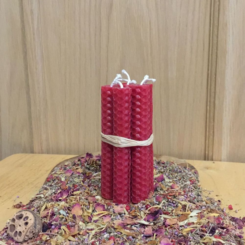 Dark Red Spell Candles