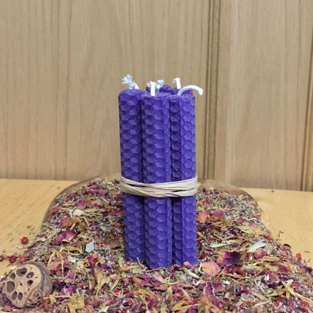 Vivid Purple Spell Candles