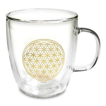 Flower of Life - Glass Tea Mug