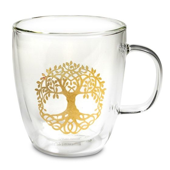 Tree of Life - Glass Tea Mug