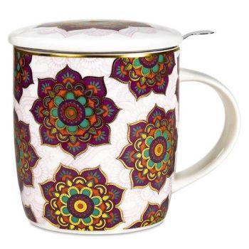 Red & Purple Mandala - Infuser Mug