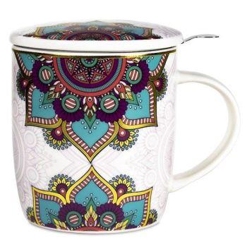 Turquoise & Purple Mandala - Infuser Mug