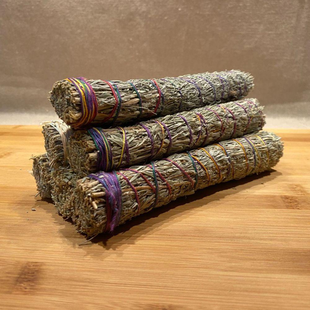 Blue Sage & Mandrake Smudging Stick - Large