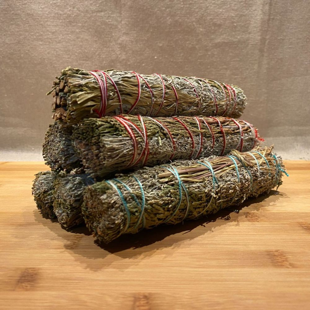 Cedar, Sage & Sweetgrass Smudging Stick - Large