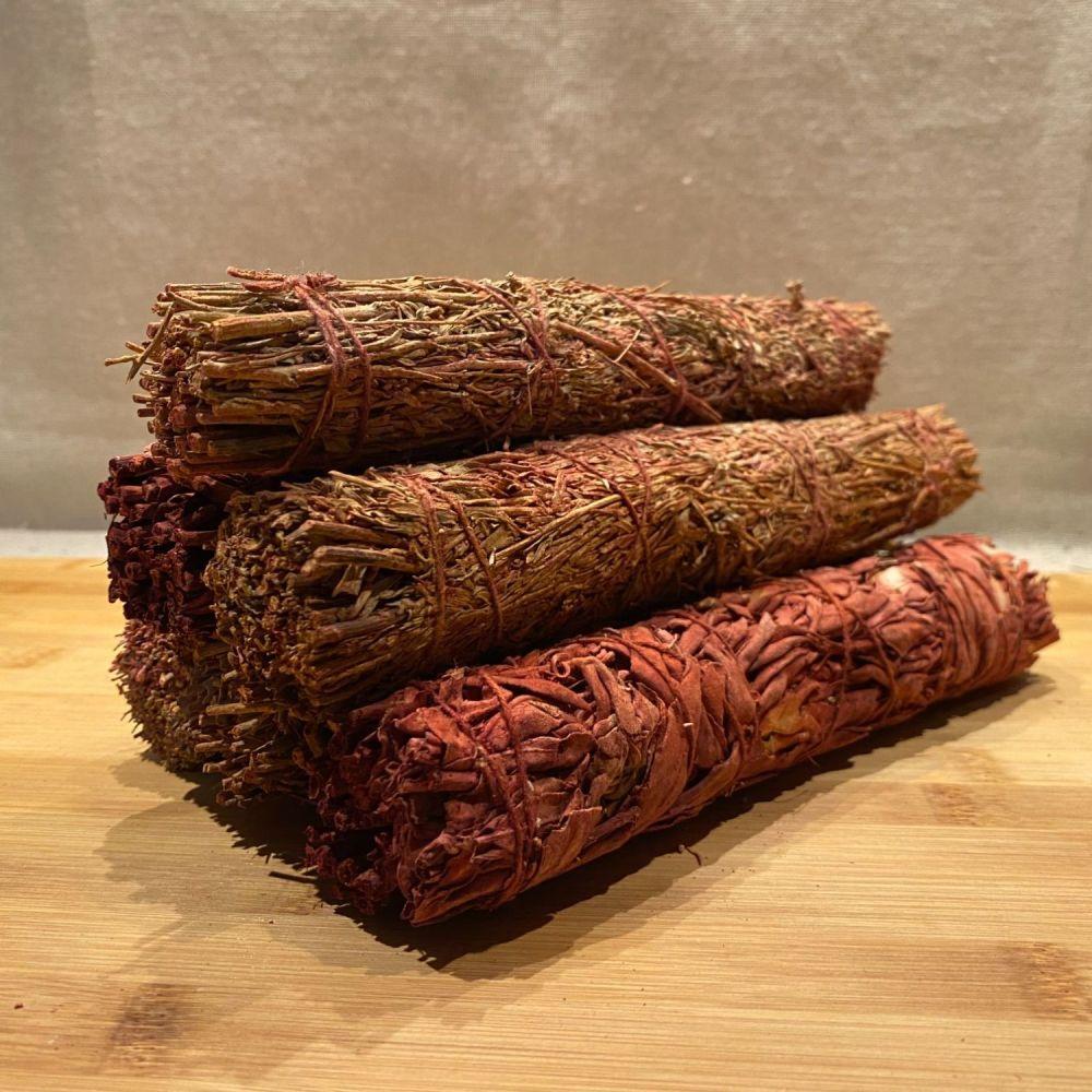 White Sage & Dragons Blood Smudging Stick - Large
