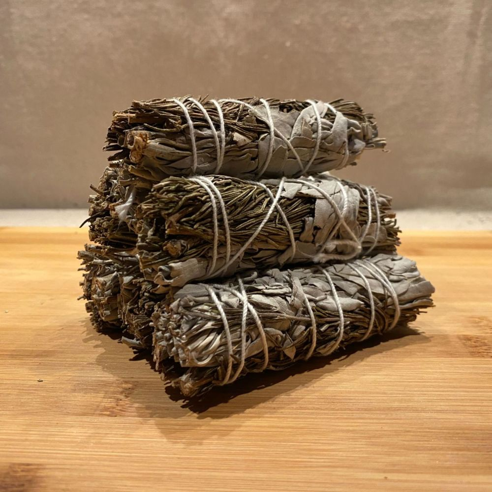 White Sage & Rosemary Smudging Stick - Small