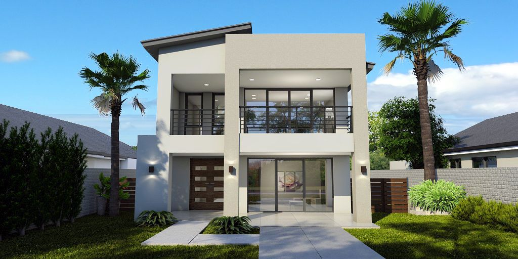 1024x512 - 10+ Modern Small Two Storey House Plans With Balcony Pictures