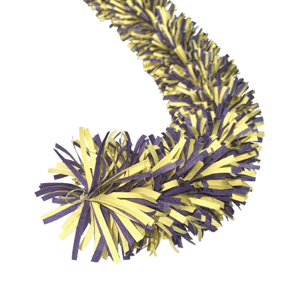 Yellow and Blue Ecotinsel garland
