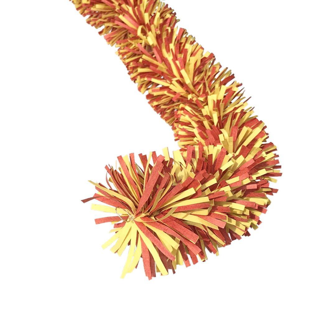Ecotinsel (Two colour) Yellow and Red Garland