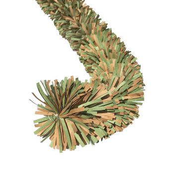 Ecotinsel (Two colour) Green & Kraft Brown garland