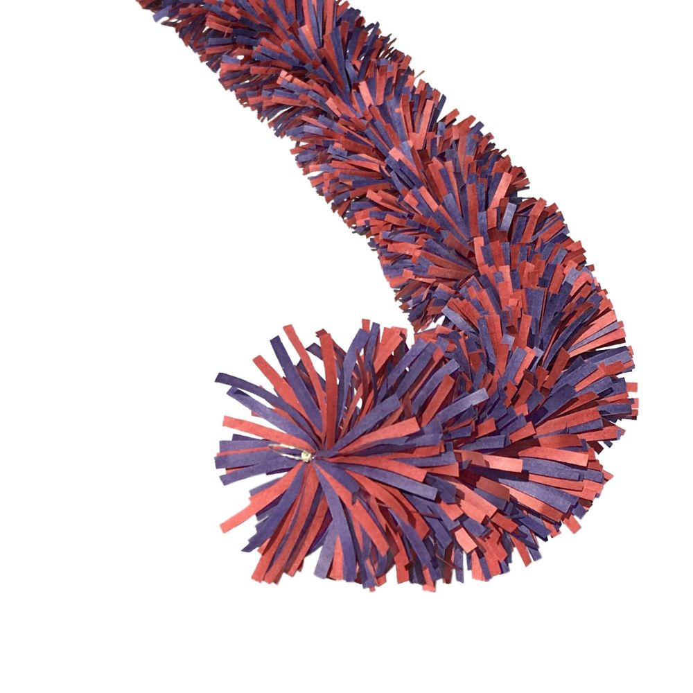 Ecotinsel (two colour) Red & Blue garalnd
