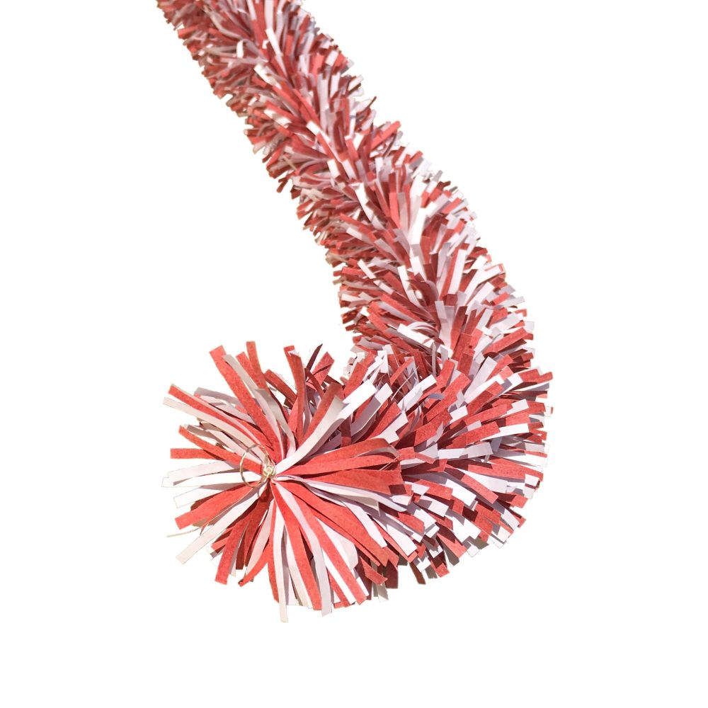 Ecotinsel (Two colour) Red & White garland