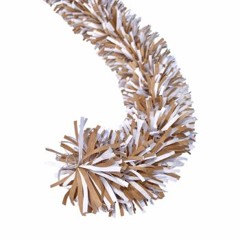 Ecotinsel (Two colour) Kraft Brown & White garland