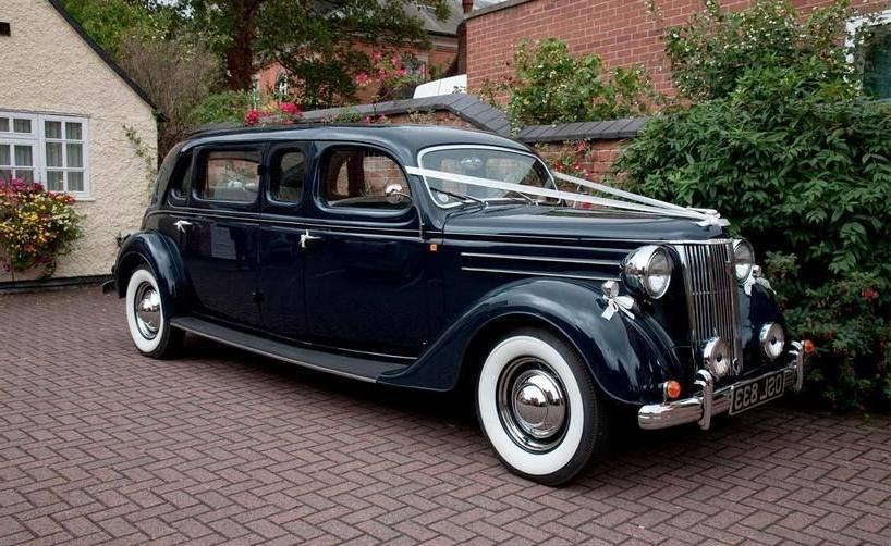 Classic Black Wedding Car