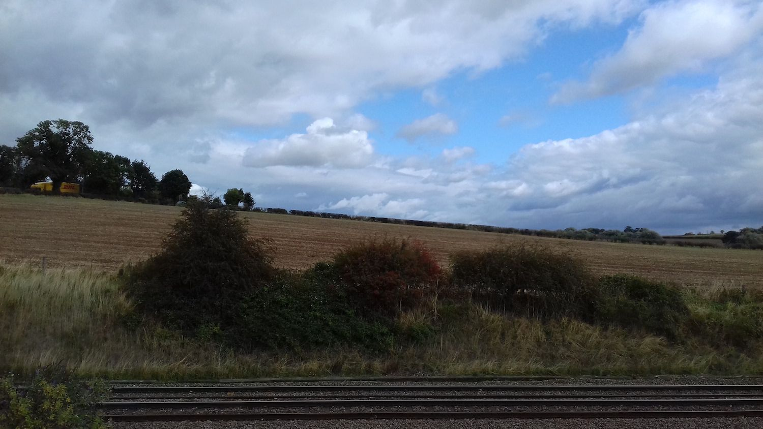 The view from The Sleeper room at Hathern Station