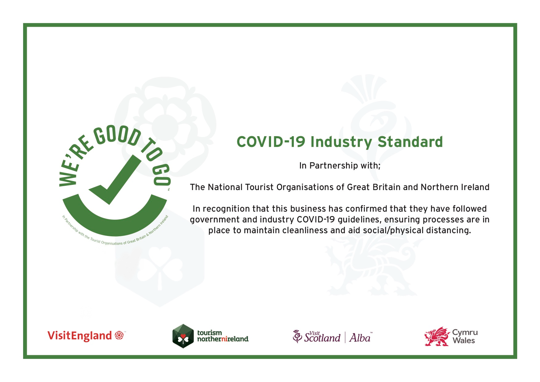 Covid-19 Industry Certificate