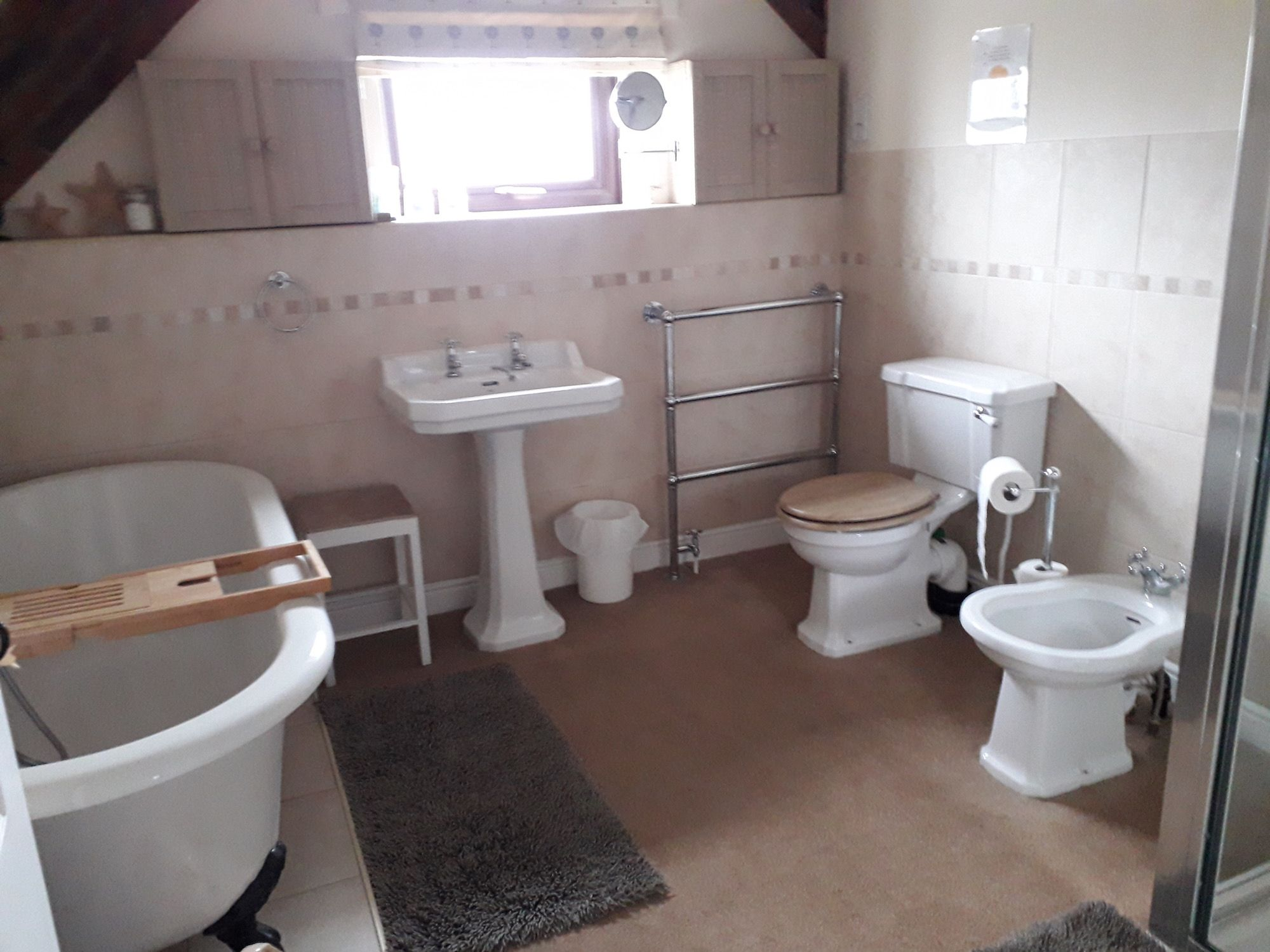 The Bathroom in the Sidings Room at Old Hathern Station