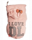 I Love DL Hoodie in PINK sizes From XXS to XXL