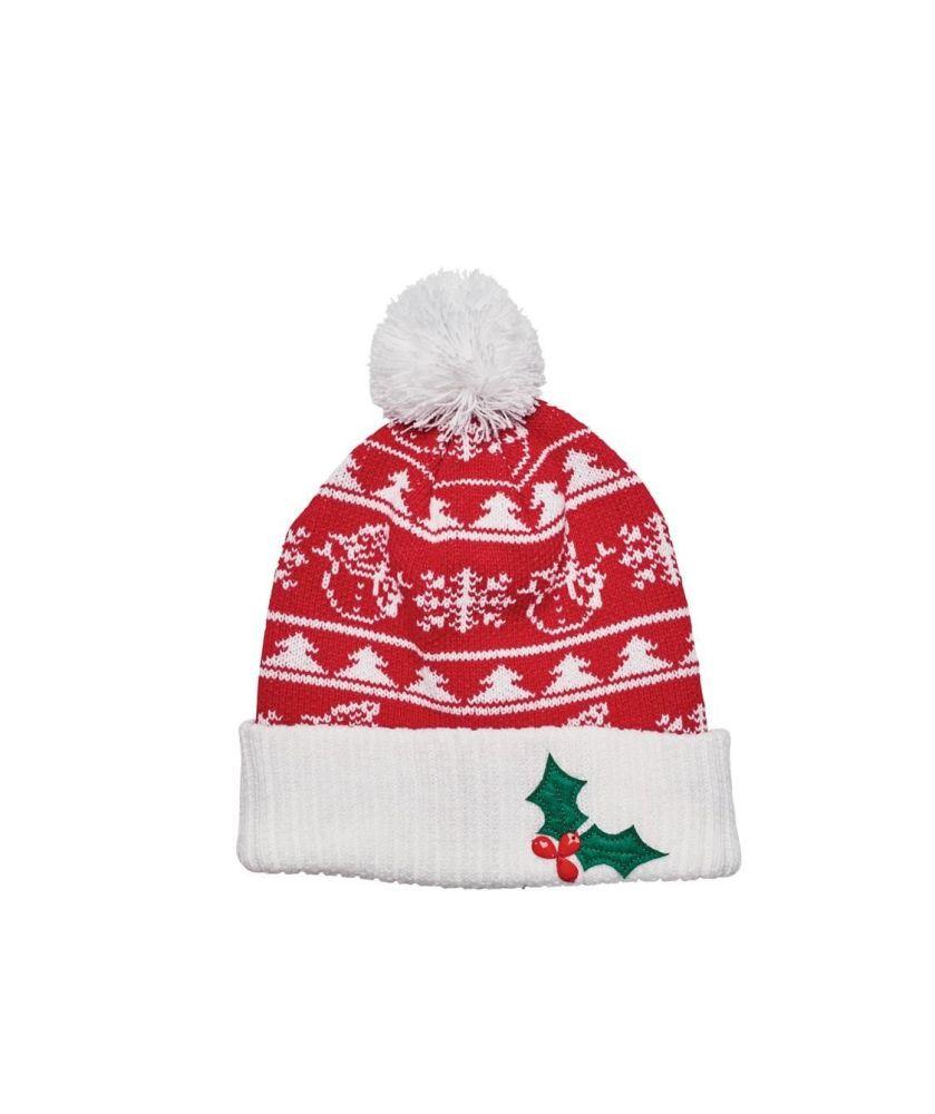 San Diego Hat Company: SNOWMAN & APPLIQUE CHRISTMAS BEANIE