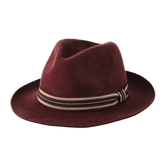 San Diego Hat Company: MEN'S PACKABLE, CRUSHABLE WOOL FELT FEDORA