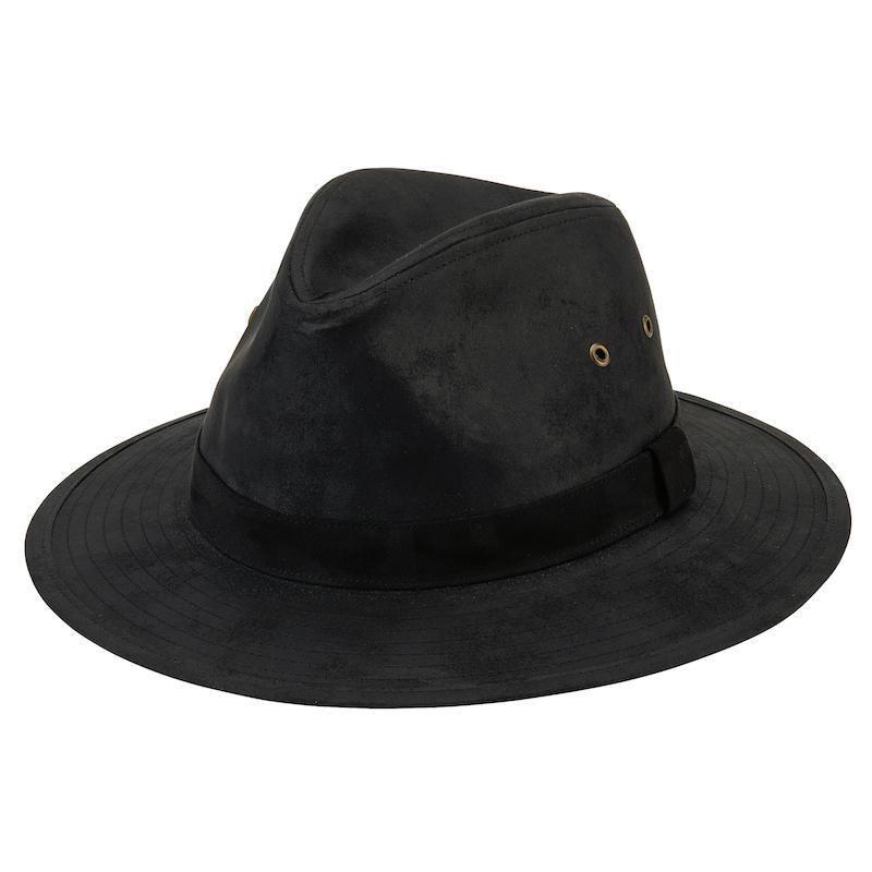 OCM4613- MENS OUTDOOR HAT  -  BLACK   -  MENS O/S