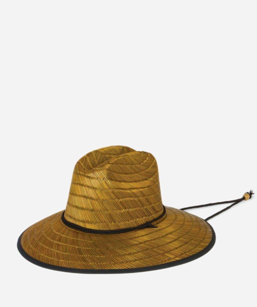 RSM546OSNAT- Mens Straw Straw Chin Cord Sun Hat  -  NATURAL   -  MENS O/S