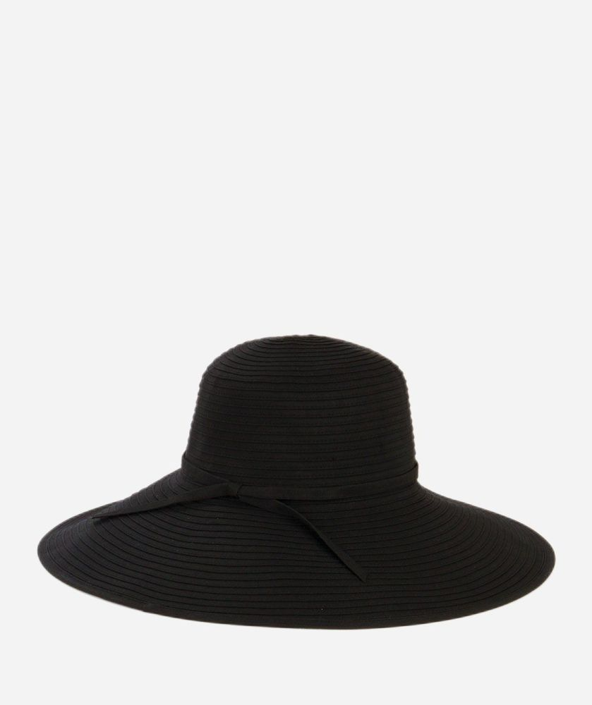 RBL202- Women's Ribbon Braid Large Brim Hat  -  WOMENS O/S