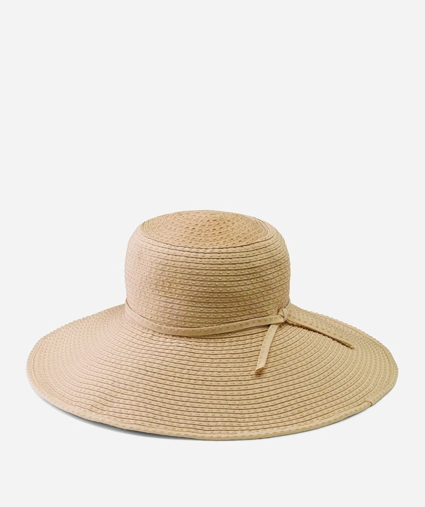 RBL205- Women's Ribbon Braid Hat with Ticking  -  WOMENS O/S