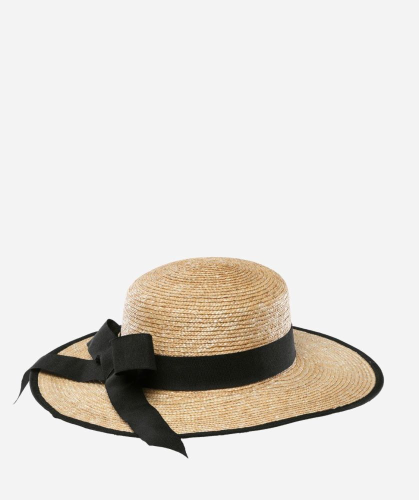 WSH1056- Women's Fine Straw Hat with Ribbon  -  NATURAL   -  WOMENS O/S
