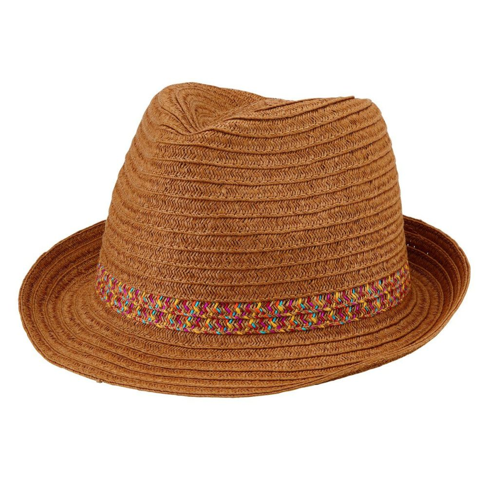 PBF7301OSNAT-WOMENS PAPER BRAID FEDORA WITH BOW  -  NATURAL   -  WOMENS O/S