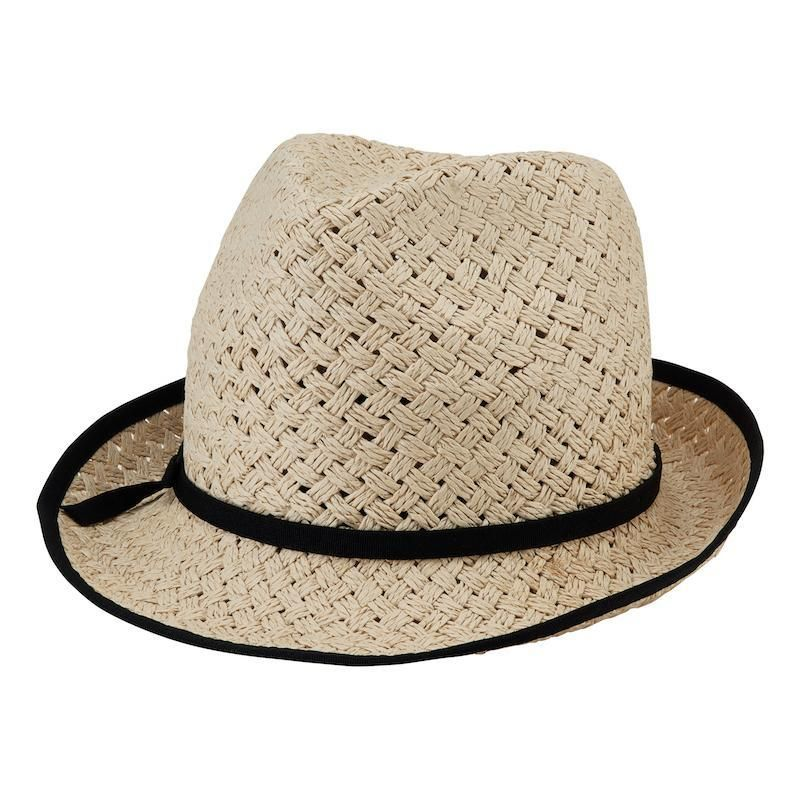 PBF7301OSNAT-WOMENS PAPER BRAID FEDORA WITH BOW - NATURAL - WOMENS O/S- WOMENS PAPER OPEN WEAVE FEDORA  -  NATURAL   -  WOMENS O/S