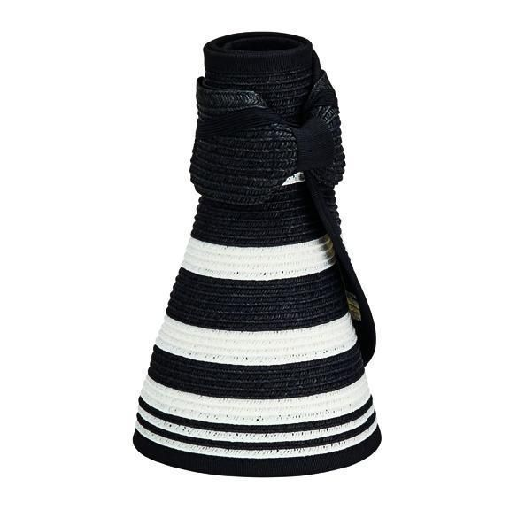 UBV042 - Women's roll up visor with stripe pattern and bow closure  -  WOMENS O/S