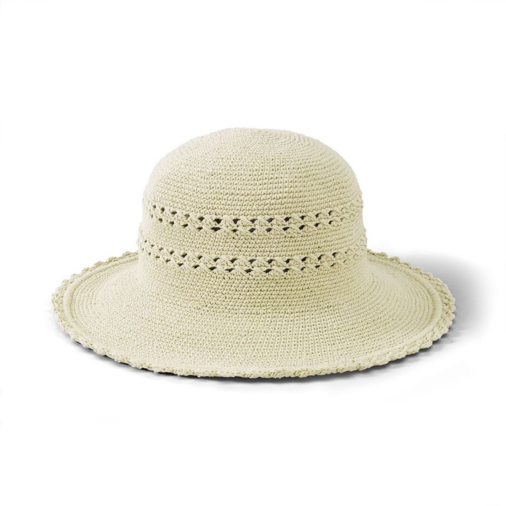 CHL1OSNAT  Women's Cotton Crochet Hat With A Large Brim NATURAL (CHL1)