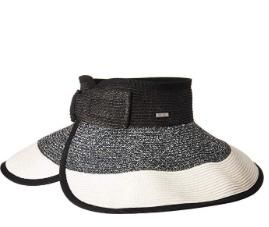UBV038 - Women's roll up visor with bow closure  -  WOMENS O/S