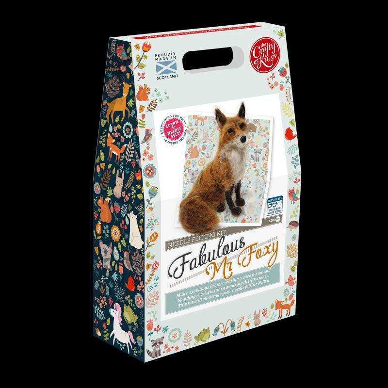 Crafty Kit Company  Fabulous Mr Foxy Needle Felting Kit
