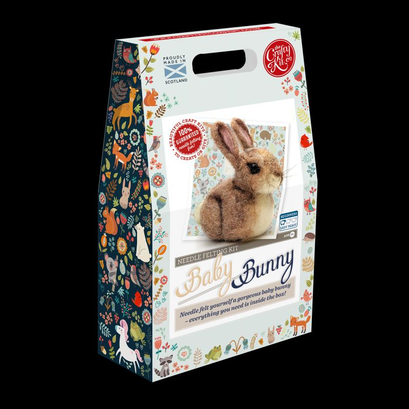 Crafty Kit Company  Baby Bunny Needle Felting Kit