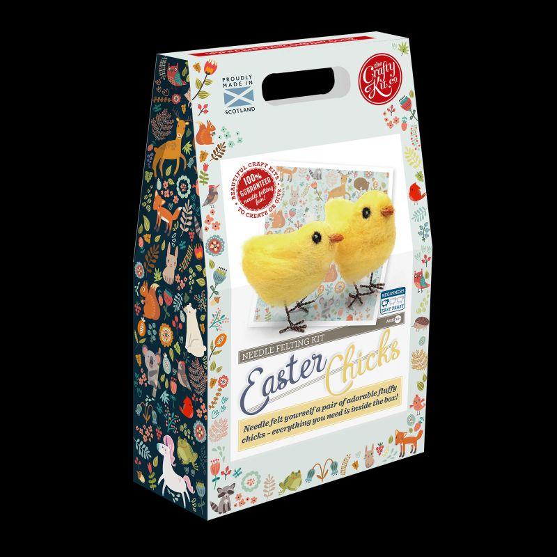 Crafty Kit Company  Easter Chicks Needle Felting Kit