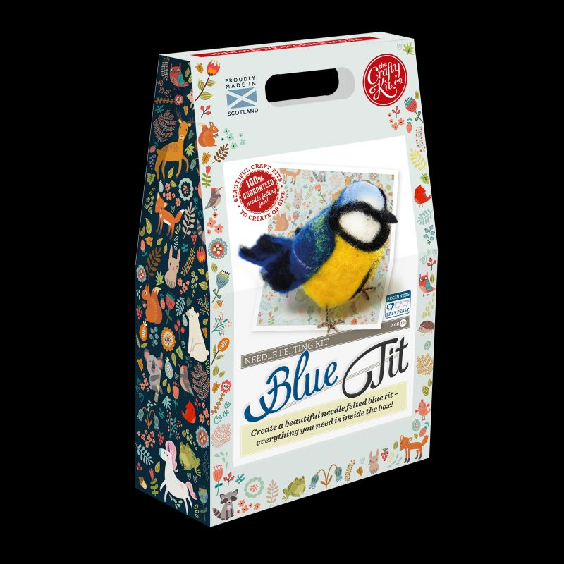Crafty Kit Company  British Birds Blue Tit Needle Felting Kit